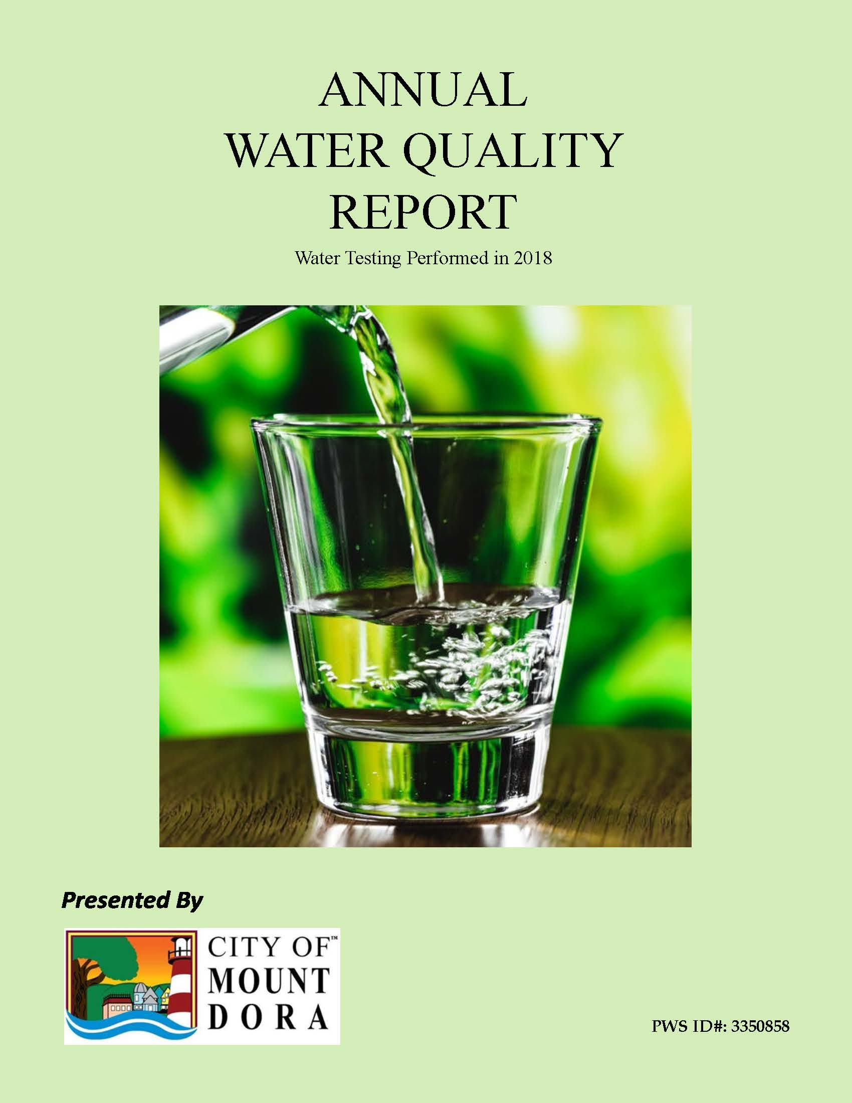 2018 Quality Water Report Cover