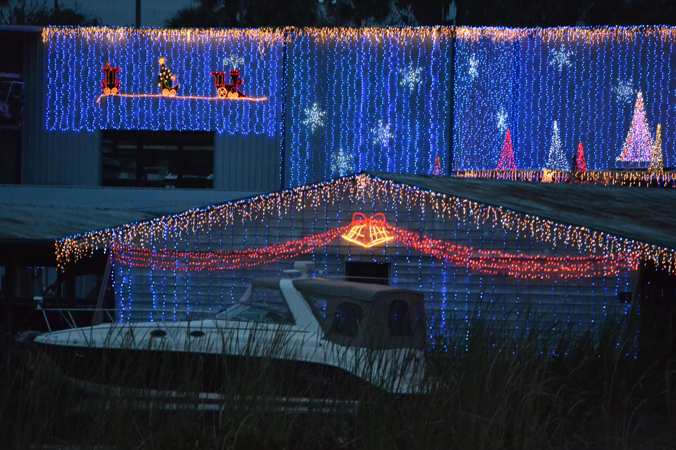 Christmas Lights at Boat Center