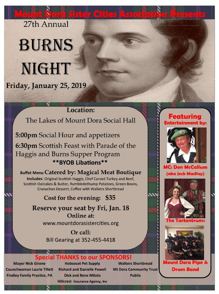 Burns Night Flyer 2018