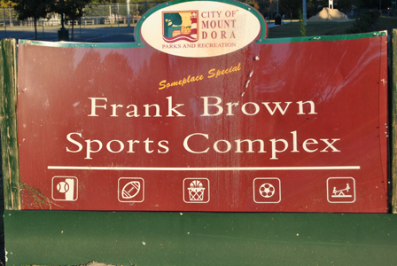 Frank Brown Sports Complex Sign